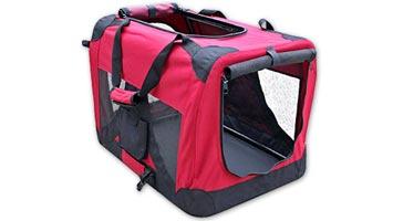 Stor transporttaske med stærk ramme til store hunde 122 cm. Taske til de store hunderacer såsom golden retriever, schæfer, labrador eller collie.