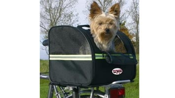 Biker-bag cykeltaske bag til transport af din hund 35x28.5x29 cm. Med denne taske til hund kan du have hunden med på cykelturen eller lignende.