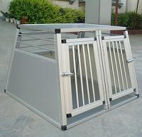 dobbelt transportbur til hund aluminium